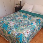 BS001Q-Bedspread-Kantha-Turquoise-Paisley-Queen-02