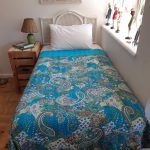 BS001S-Bedspread-Kantha-Turquoise-Paisley Single-02