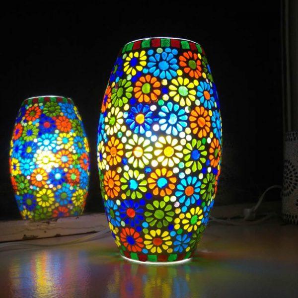 Floral Mosaic Lamp