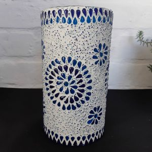 Blue Mosaic Electric Lamp